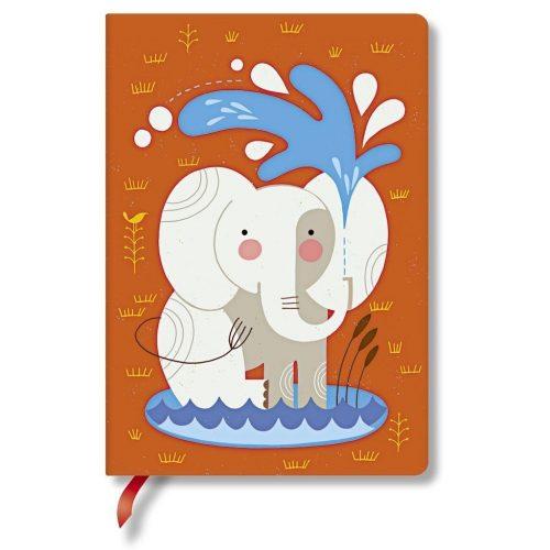 Paperblanks butikkönyv Baby Elephant midi vonalas