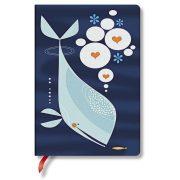 Paperblanks butikkönyv Whale and Friend midi vonalas