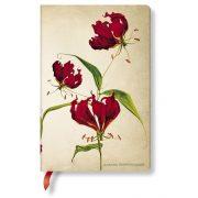 Paperblanks butikkönyv Gloriosa Lily mini vonalas