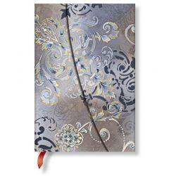 Paperblanks butikkönyv Gossamer Grey mini vonalas