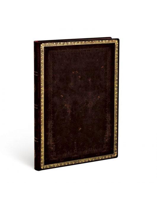 Paperblanks FLEXIS notesz, füzet Black Moroccan midi vonalas 176 old.