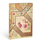 FLEXIS notesz, füzet Filigree Floral Ivory Kraft midi vonalas 176 old.