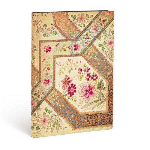 Paperblanks FLEXIS notesz, füzet Filigree Floral Ivory Kraft midi vonalas 176 old.