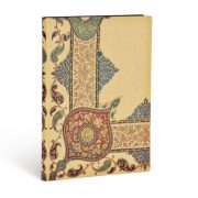 Paperblanks FLEXIS notesz, füzet Visions of Paisley Ivory Kraft midi vonalas 240 old.