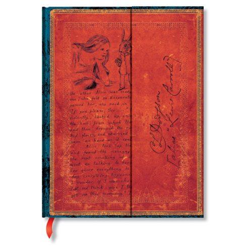 Paperblanks butikkönyv Lewis Carroll, Alice in Wonderland ultra vonalas