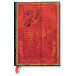 Paperblanks butikkönyv Lewis Carroll, Alice in Wonderland midi vonalas