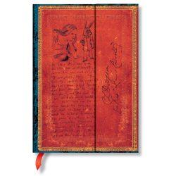 Paperblanks butikkönyv Lewis Carroll, Alice in Wonderland midi üres