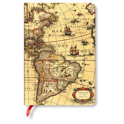Paperblanks butikkönyv Western Hemisphere midi vonalas