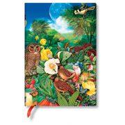 Paperblanks butikkönyv Moon Garden midi vonalas