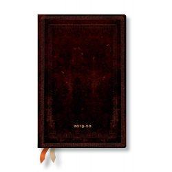 Paperblanks naptár (2019/20) 18 hónapos - Black Moroccan Bold  mini horizontális