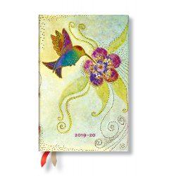 Paperblanks naptár (2019/20) 18 hónapos - Hummingbird mini horizontális