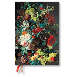 Paperblanks naptár (2019/20) 18 hónapos - Van Huysum midi horizontális