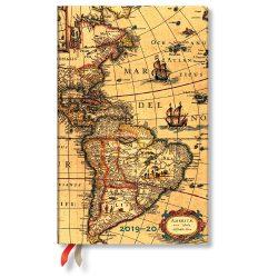 Paperblanks naptár (2019/20) 18 hónapos - Western Hemisphere  maxi vertikális
