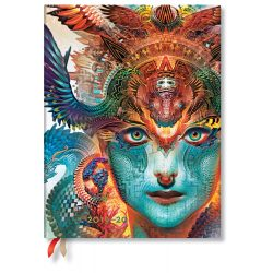 Paperblanks naptár (2019/20) 18 hónapos - Dharma Dragon  ultra vertikális