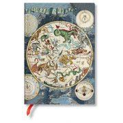 Paperblanks FLEXIS notesz, füzet Celestial Planisphere midi vonalas 176 old.