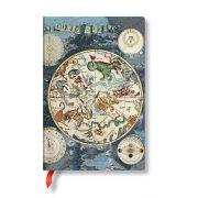Paperblanks FLEXIS notesz, füzet Celestial Planisphere mini vonalas 176 old.