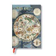 FLEXIS notesz, füzet Celestial Planisphere mini üres 176 old.