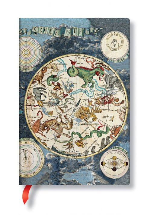 Paperblanks FLEXIS notesz, füzet Celestial Planisphere mini üres 176 old.