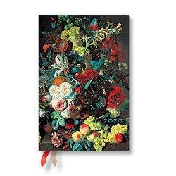 Paperblanks naptár (2020) 12 hónapos - Van Huysum mini horizontális