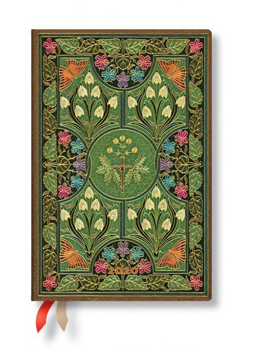 Paperblanks naptár (2020) 12 hónapos - Poetry in Bloom mini verso