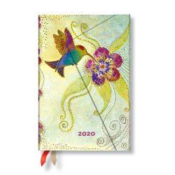 Paperblanks naptár (2020) 12 hónapos - Hummingbird mini verso