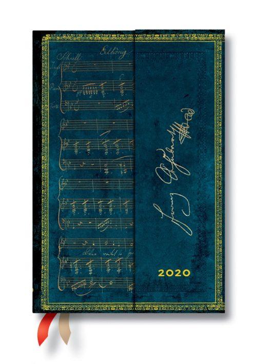 Paperblanks naptár (2020) 12 hónapos - Schubert, Erlkönig mini verso