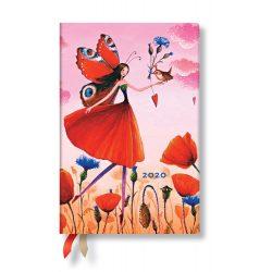 Paperblanks naptár (2020) 12 hónapos - Poppy Field mini verso