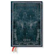 Paperblanks naptár (2020) 12 hónapos - Midnight Steel midi napi