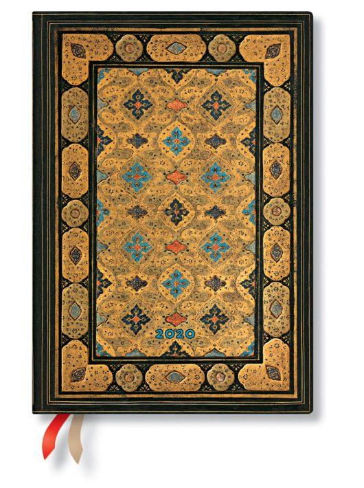 Paperblanks naptár (2020) 12 hónapos - Shiraz midi horizontális