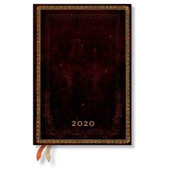 Paperblanks naptár (2020) 12 hónapos - Black Moroccan midi verso