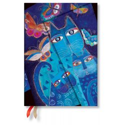 Paperblanks naptár (2020) 12 hónapos - Blue Cats & Butterflies midi verso