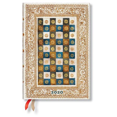 Paperblanks naptár (2020) 12 hónapos - Aureo midi verso