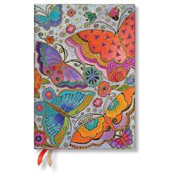 Paperblanks naptár (2020) 12 hónapos - Flutterbyes midi verso