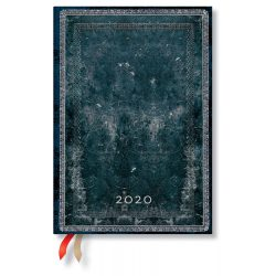 Paperblanks naptár (2020) 12 hónapos - Midnight Steel midi verso