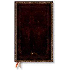 Paperblanks naptár (2020) 12 hónapos - Black Moroccan maxi horizontális