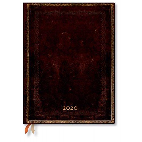 Paperblanks naptár (2020) 12 hónapos - Black Moroccan ultra horizontális