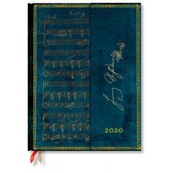 Paperblanks naptár (2020) 12 hónapos - Schubert, Erlkönig ultra horizontális