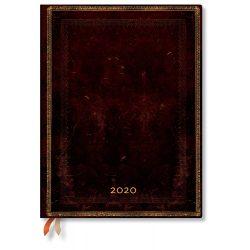 Paperblanks naptár (2020) 12 hónapos - Black Moroccan ultra vertikális