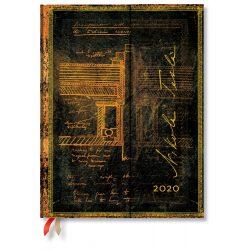 Paperblanks naptár (2020) 12 hónapos - Tesla, Sketch of a Turbine ultra verso