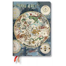 Paperblanks Flexi naptár (2020) 12 hónapos - Celestial Planisphere midi horizontális