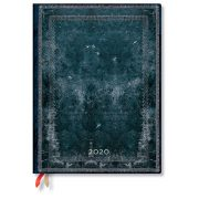 Paperblanks FLEXIS naptár (2020) 12 hónapos - Midnight Steel ultra vertikális