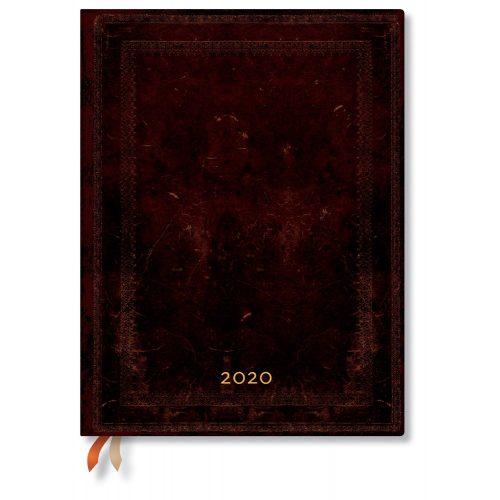 Paperblanks FLEXIS naptár (2020) 12 hónapos - Black Moroccan Bold ultra napi