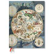 Paperblanks naptár (2020) 12 hónapos - Celestial Planisphere ultra horizontális
