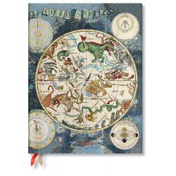 Paperblanks naptár (2020) 12 hónapos - Celestial Planisphere ultra vertikális