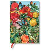 Paperblanks FLEXIS notesz, füzet Butterfly Garden midi vonalas 240 old.