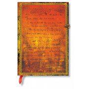 Paperblanks butikkönyv H.G. Wells' 75th Anniversary midi vonalas