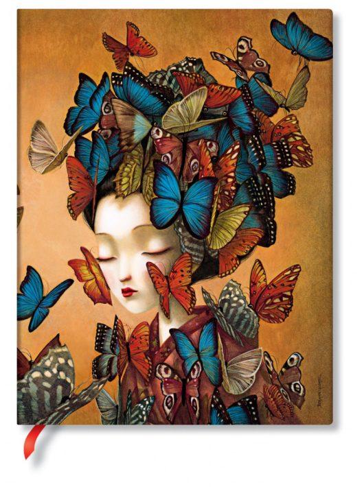 Paperblanks butikkönyv Madame Butterfly ultra üres