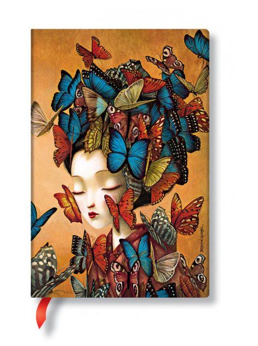Paperblanks butikkönyv Madame Butterfly mini vonalas