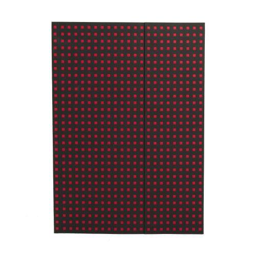Paper-Oh Quadro Black on Red A4 vonalas