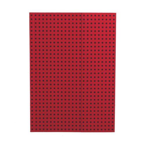 Paper-Oh Quadro Red on Black A4 vonalas
